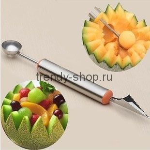 Набор ножей для фигурной нарезки фруктов из 2-х ножей
