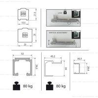 Комплект фурнитуры Krona Koblenz 0600-50 на 1 дверь до 50 кг