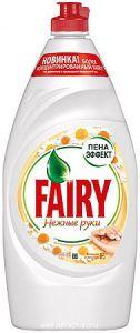 Средство для мытья посуды FAIRY Нежные руки Ромашка и витамин Е Пена эффект 900мл