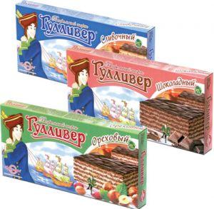 Торт вафельный БРЯНКОНФИ 220гр Гулливер шоколадный