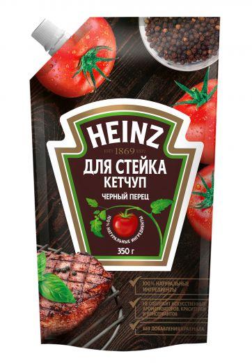 Кетчуп Heinz Базилик и черный перец для стейка 350г