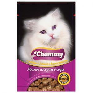 Корм для кошек CHAMMY PREMUIM 85г Мясное ассорти