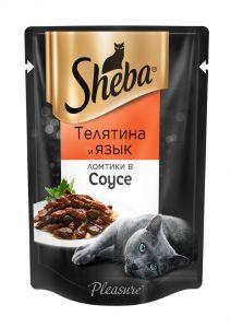Корм для кошек SHEBA 85г Pleasure говядина в соусе