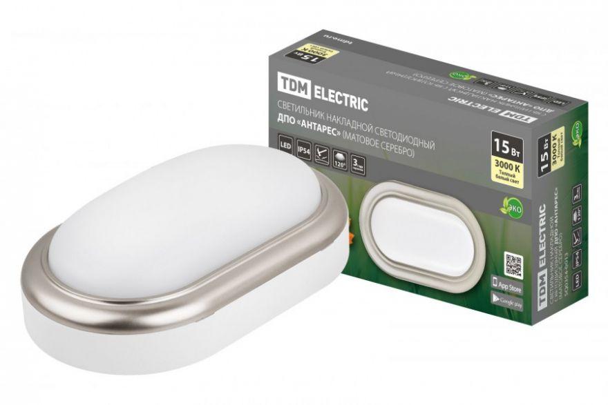 Светильник светодиодный TDM SQ0354-0021 15W матовое серебро