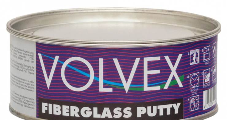 Шпатлевка Volvex Fiberglass Putty 1.8  кг