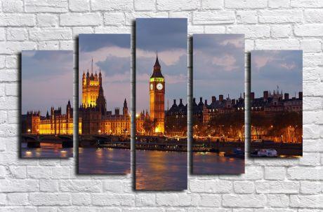Модульная картина город 30