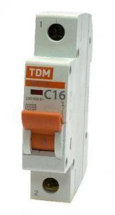Авт.выкл. ВА47-29 1Р 16А 4,5ка х-ка ТДМ 16543