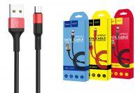 Кабель USB Hoco X26 micro USB (1 метр) (black-red)