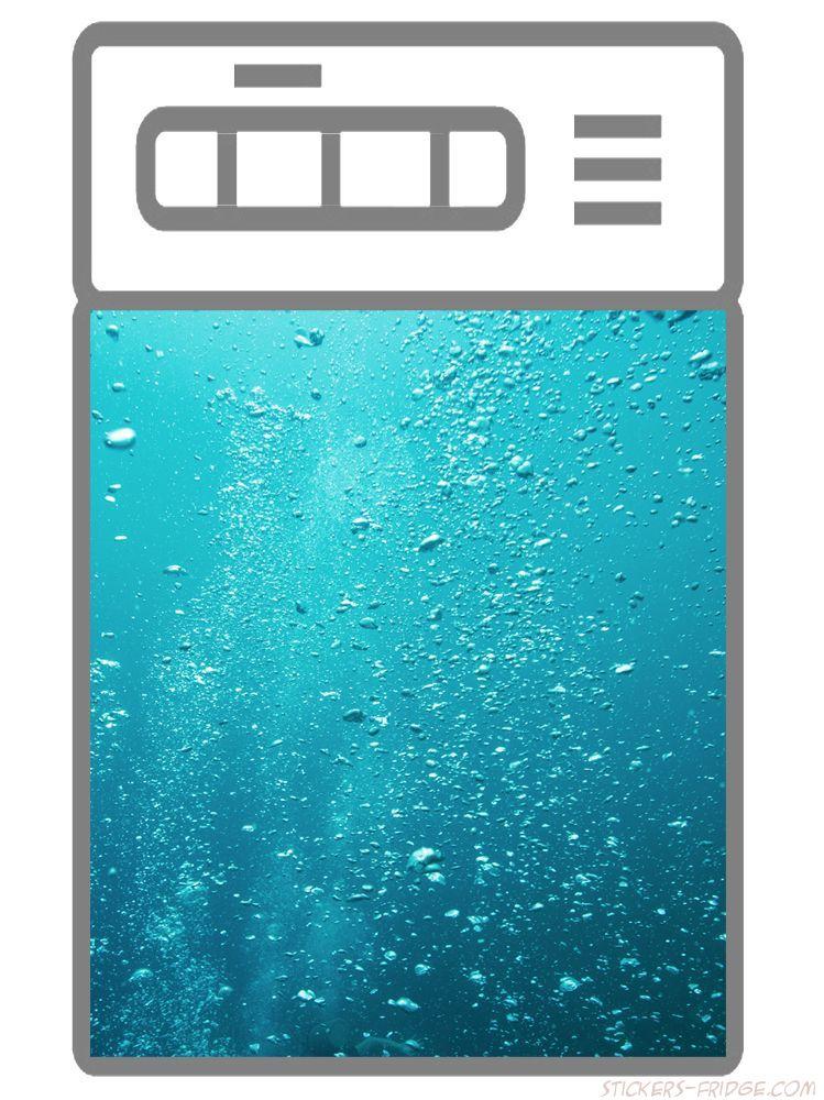 Наклейка на посудомоечную машину - Пузырьки воздуха