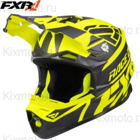 Шлем FXR Blade 2.0 Race Div, с подогревом - Black/Hi-Vis