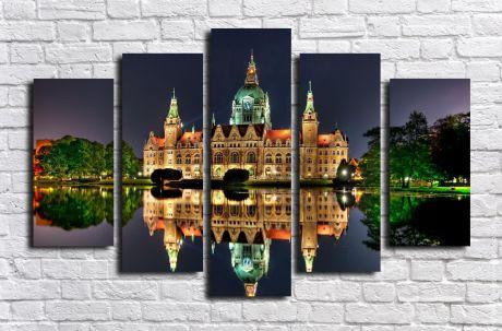 Модульная картина город 46