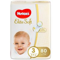 "Huggies ""Elite Soft 3"" 80 шт"