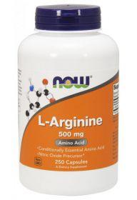 L-Arginine 500 mg от NOW (250 кап)