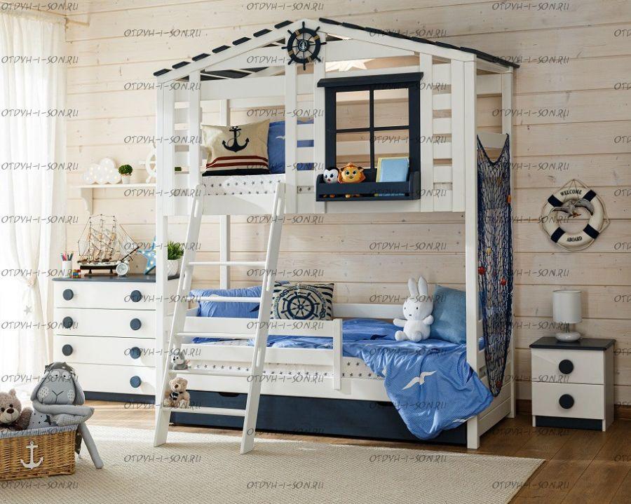 Кровать двухъярусная, Кровать-домик Roof №22