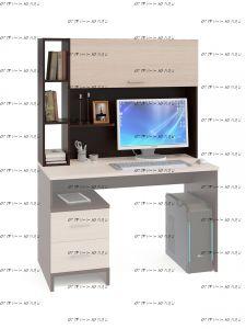 Надстройка КН-03 для стола Сокол КСТ-114 (120х26х91)