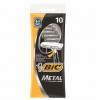 BIC Metal станки с 1 лезвием одноразовые, 10 штук