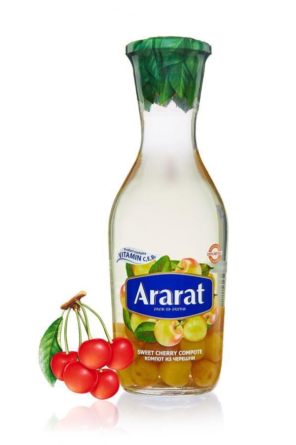 """Компот из черешни """"ARARAT"""" 1,0л ст/б"""