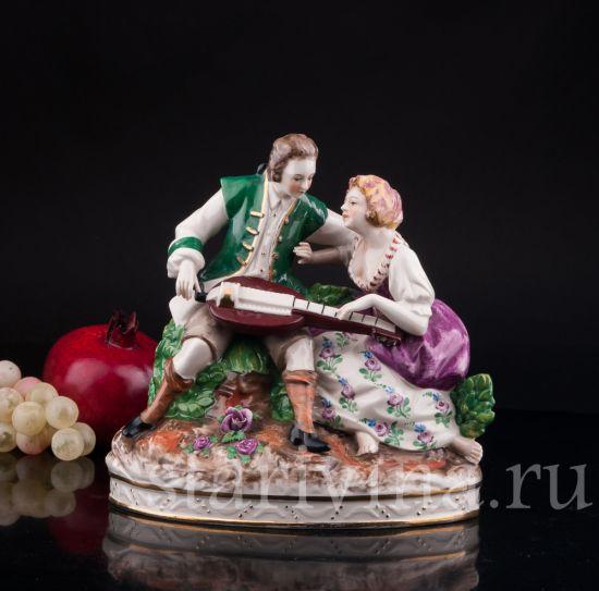 Изображение Пара с колесной лирой, Дрезден, Германия, нач.20 в.