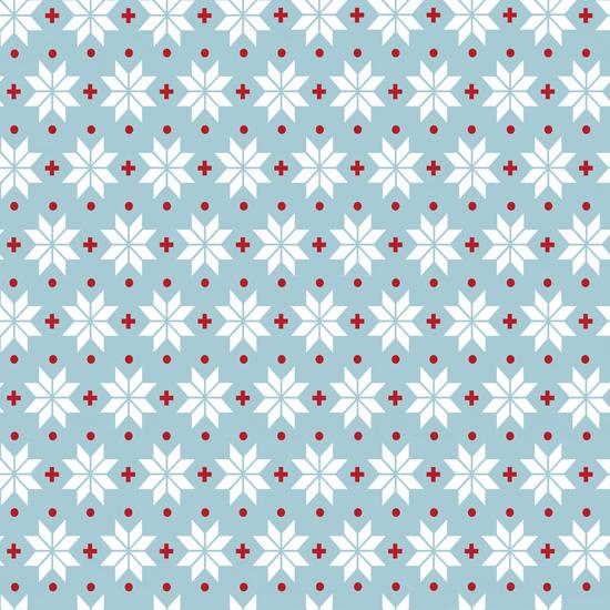 Хлопок Перкаль Снежинки на голубом 50х37
