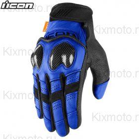 Мотоперчатки кожаные Icon Contra2 , Черно-синие