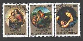 Рафаэль Набор марок Верхняя Вольта 1980