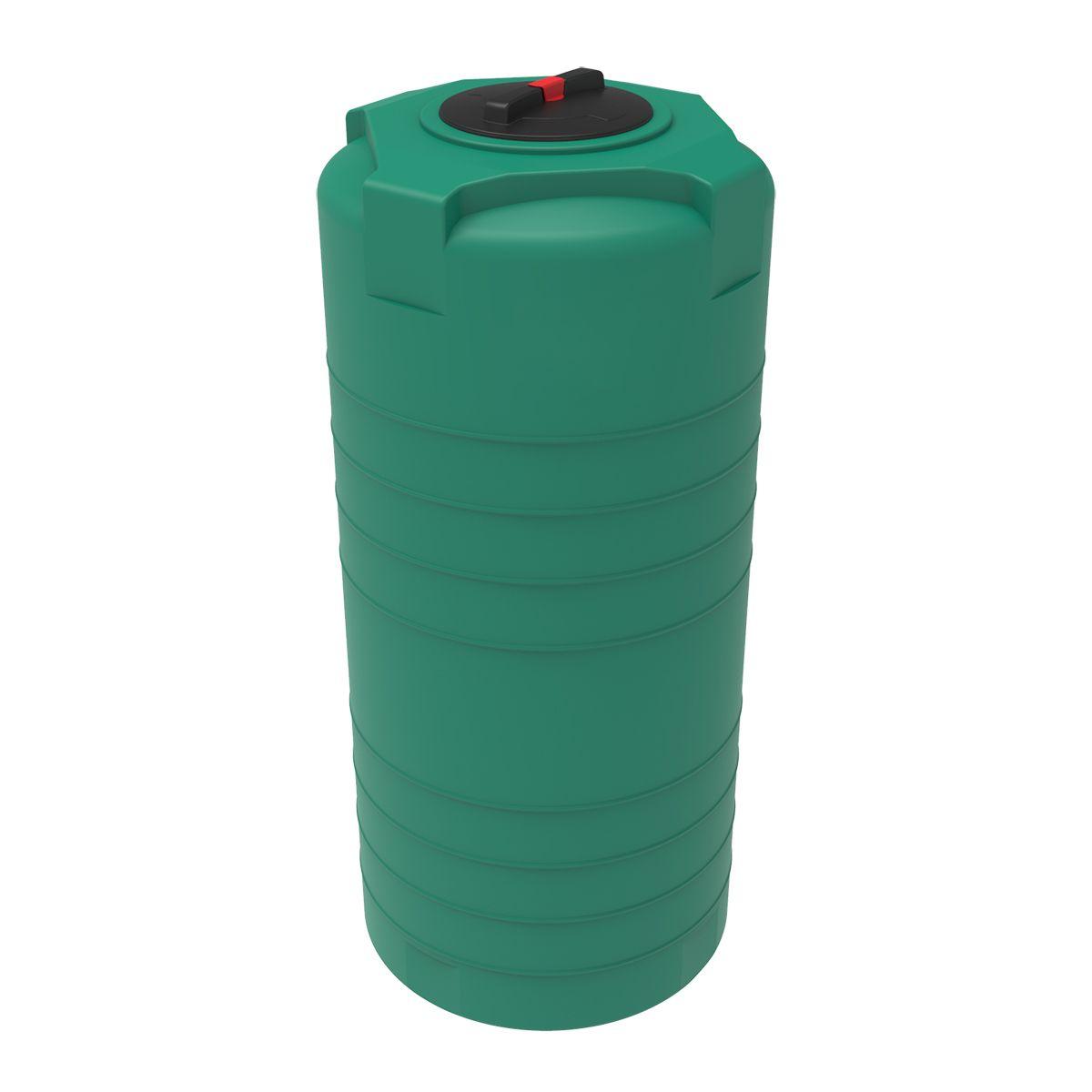 Емкость T 750 литров зеленая пластиковая