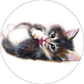 Вышивка крестиком «Милый котенок» 21x21.