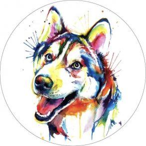Вышивка крестиком «Разноцветный щенок» 28x28.