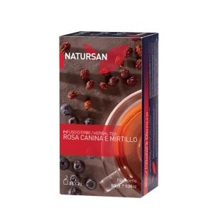 "CF33 Травяной чай ""Шиповник и черника"" (25х2 гр) 50 гр., Astuccio Natursan ""Rosa canina e mirtillo"" 50 gr."