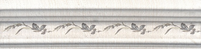 BLB028 | Бордюр Багет Кантри Шик белый декорированный