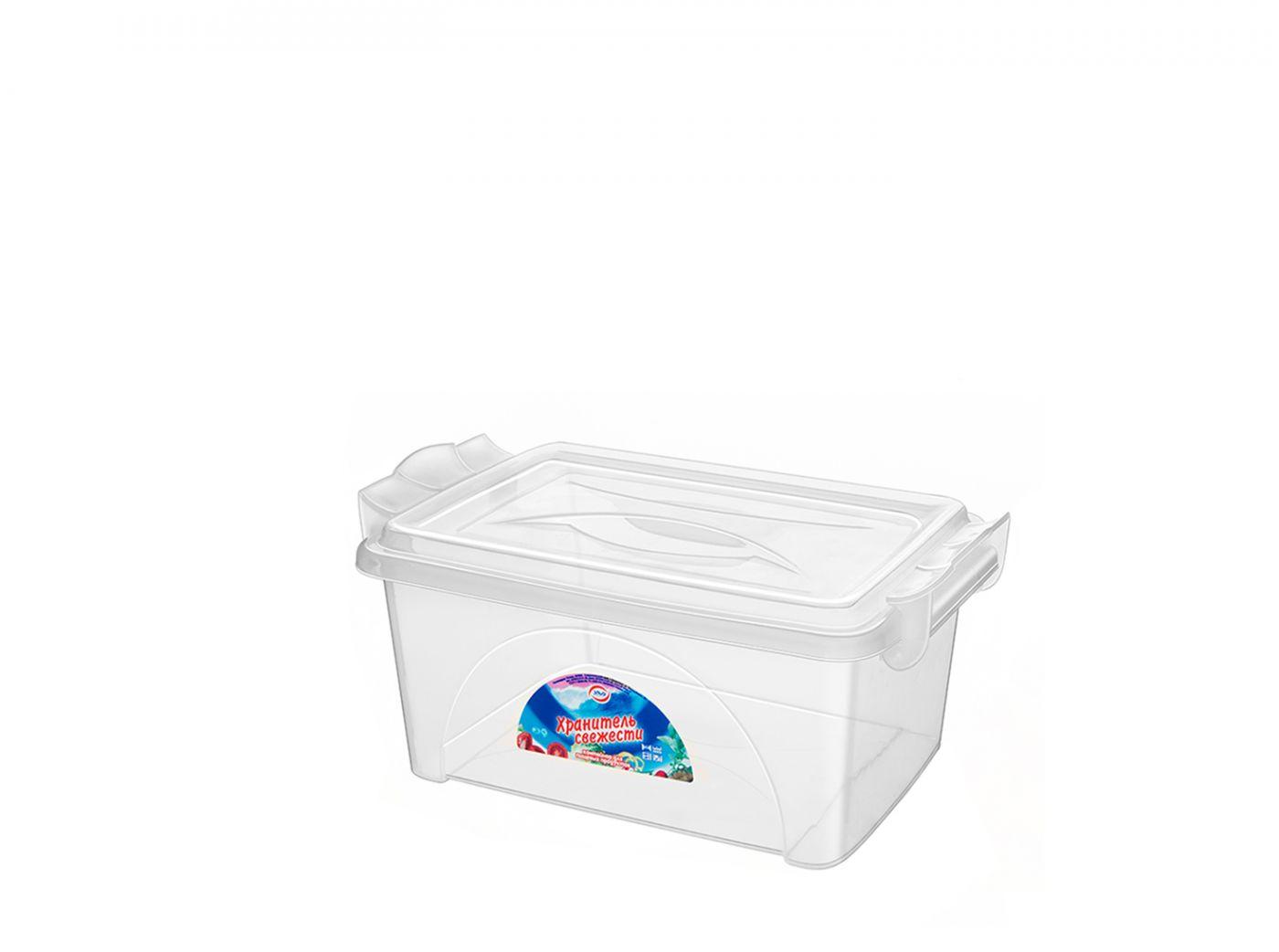 Контейнер для хранения Эльфпласт Хранитель свежести 2,5 литра прозрачный с крышкой 24,5х16х11 см