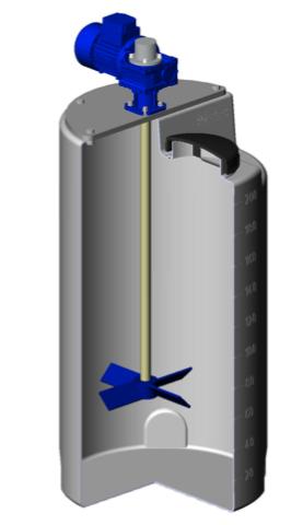 Емкость дозировочная 200 с лопастной мешалкой