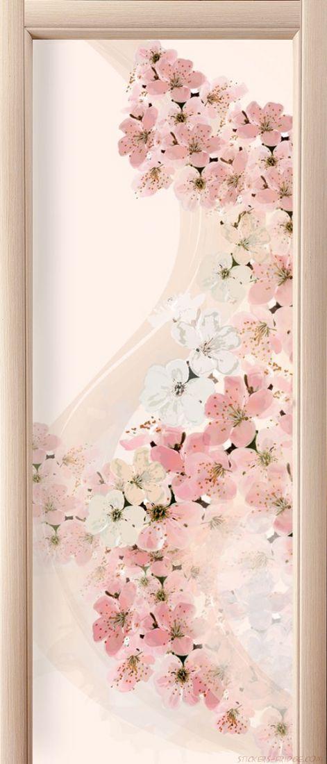 Наклейка  на дверь - Вуаль весны