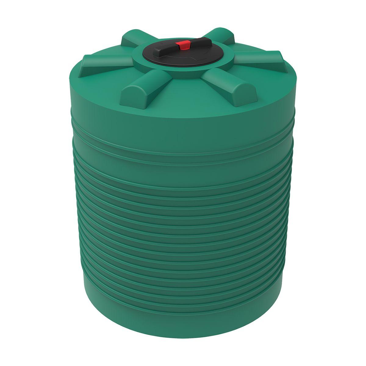 Бак для воды ЭВЛ 750 литров пластиковый зеленый