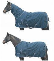 Непромокаемая зимняя попона с полной шеей -Starter- Ткань 600 DEN. Утеплитель 300 гр HKM