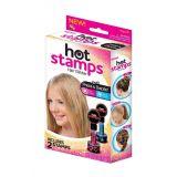 Штампы для нанесения рисунка на волосы Hot Stamps.