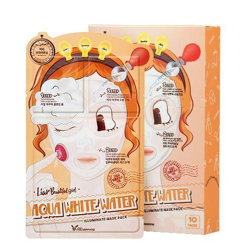 [Elizavecca] Набор/Маска трехэтап. УВЛАЖНЯЮЩАЯ 3-step Aqua White Water Illuminate Mask Sheet, 10 шт