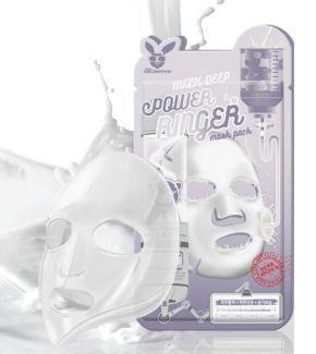 [Elizavecca] НАБОР/Тканевая маска д/лица с Молоком MILK DEEP POWER Ringer mask pack, 10 шт