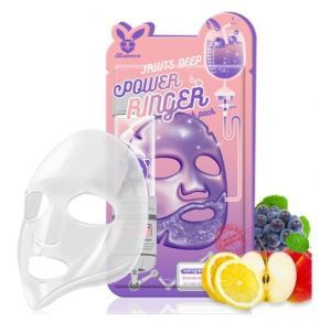 [Elizavecca] НАБОР/Тканевая маска д/лица Фруктовая FRUITS DEEP POWER Ringer mask pack, 10 шт