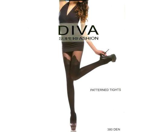 Женские колготки Diva Black 380 Den DK151
