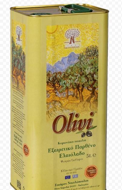 """Масло оливковое первого холодного отжима """"Olivi"""" 5 л"""