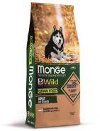 Monge Dog BWild GRAIN FREE беззерновой корм из лосося и гороха для взрослых собак всех пород (12 кг)