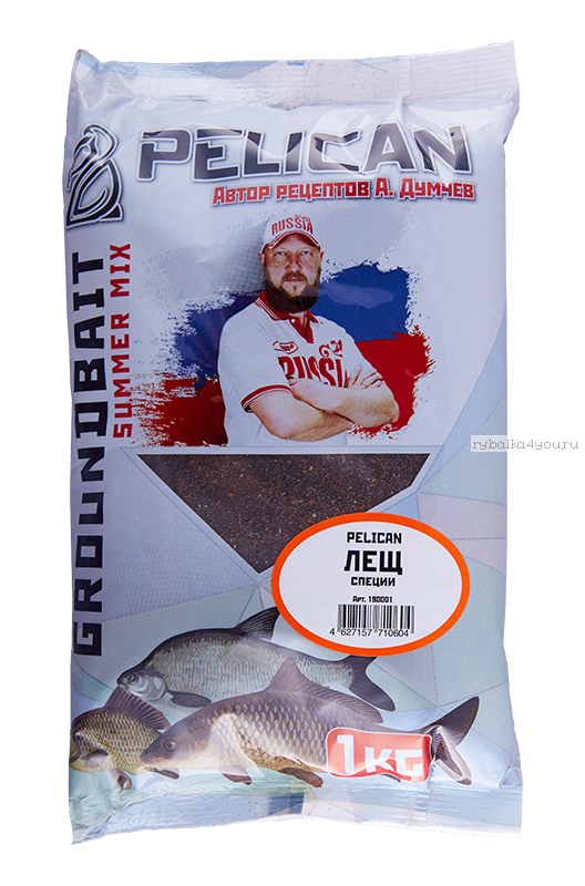 Прикормка Pelican Лещ / Специи /  1 кг