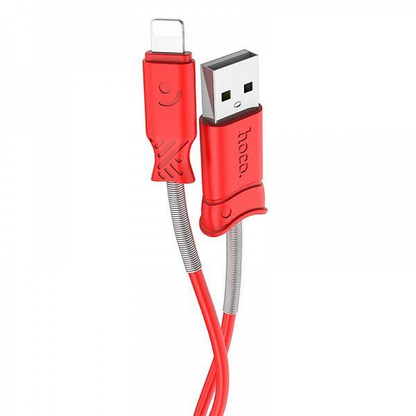 Кабель USB 2.4А HOCO X24 Красный (iOS Lighting) 1м