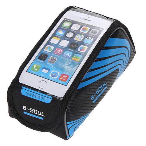 Велосипедная сумка на раму под смартфон B-Soul, 21х9,5х9,5 см. Цвет: синий.