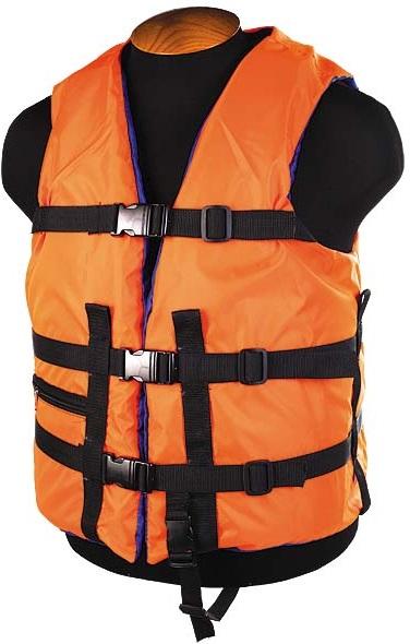 Жилет страховочный SM-026 до 150кг, размер (60-64) оранжевый