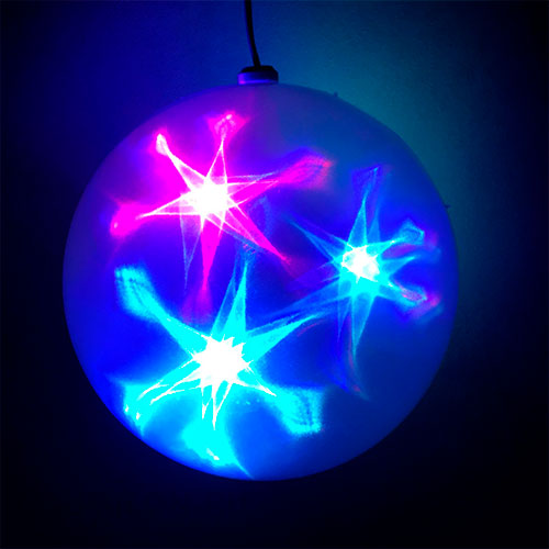 Эксклюзивный шар с LED светодиодами Ceiling Colourful Star Light 25 см