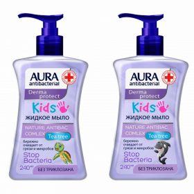 Крем-мыло антибактериальное детское Aura 250мл