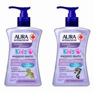 Крем-мыло антибактериальное детское Aura 300мл