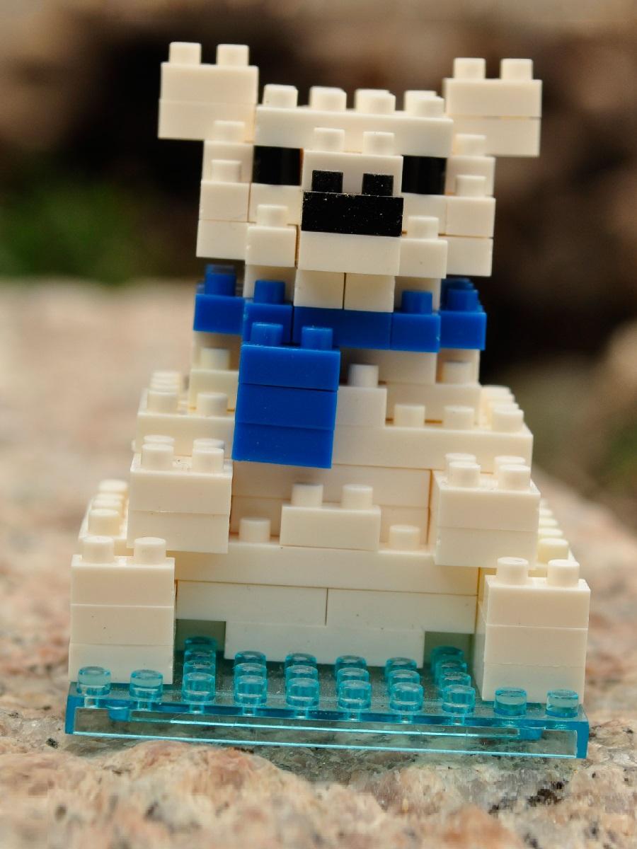 Конструктор Wisehawk & LNO Белый медведь 102 детали NO. B6 Polar Bear Gift Series